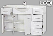 Labi Möbel Badezimmer Badmöbel Waschbecken Waschtisch mit Unterschrank GABI Gäste WC