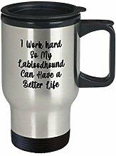 Labloodhound Travel Mug I Work Hard Geschenk für