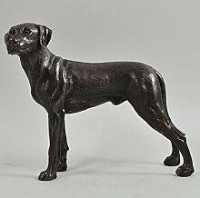 Labrador Hund Skulptur kalt gegossen Bronze Statue, Home Decor Pets Geschenkidee 15