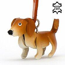 Labrador Lucky - kleine Hunde Schlüssel-Anhänger aus Leder, eine tolle Geschenk-Idee für Frauen und Männer in Hunde-Zubehör, Marley & Ich, Vincent-Lost, kuscheltier, kalender 2017, retriever, labradorit, schild, aufkleber, braun
