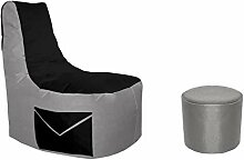 Lacasa Gaming Sitzsack 85x80x35 mit Seitentasche