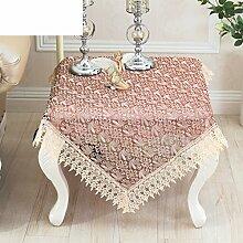 Lace tea tisch stickerei tuch garten matte, ovales rundes handtuch-D 150x210cm(59x83inch)