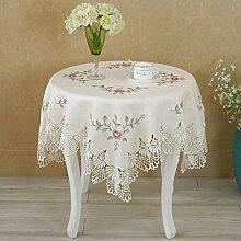 Lace white stickerei tischtuch staub-proof cover tuch rechteckig oder runder tisch deckt möbel cover tuch-A 60x180cm(24x71inch)