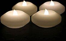 LACGO Wasserdichte schwimmende LED-Kerze, 7,6 cm,