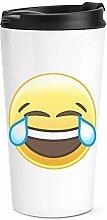 lachende weinendes Emoji Reise Becher Tasse