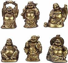 Lachender Buddha, Messing Figuren Lucky Happy