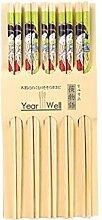 Lachineuse 5 Paar Essstäbchen mit japanischer