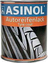 Lack für Reifen aller Art, Farbe schwarz, 1 l
