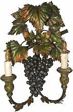 Lackierte Weintraube Wandleuchte aus Metall &