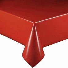 Lacktischdecke Breite 100 cm Farbe & Länge wählbar - Rot Lebensmittelecht - Größe ECKIG 100 x 240 bzw. 240x100 cm Wachstuch abwaschbare Tischdecke