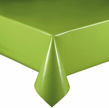 Lacktischdecke Breite 110 cm Farbe & Länge wählbar - Grün Lebensmittelecht - Größe ECKIG 110 x 240 bzw. 240x110 cm Wachstuch abwaschbare Tischdecke