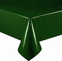 Lacktischdecke Breite 130 cm Farbe & Länge wählbar - Dunkelgrün Lebensmittelecht - Größe ECKIG 130 x 420 bzw. 420x130 cm Wachstuch abwaschbare Tischdecke