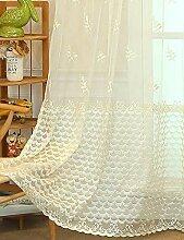 Lactraum Gardinen Wohnzimmer Transparent Beige mit