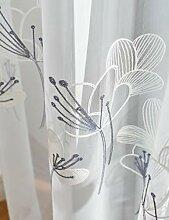 Lactraum Gardinen Wohnzimmer Transparent Weiß mit