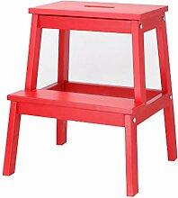 ladder stool Holz-Doppel-Tritthocker, Bad- Oder