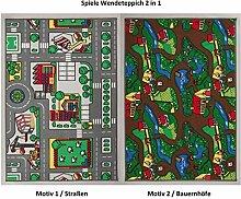 Ladeco Doppelseitiger Spiele Wendeteppich City