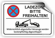 LADEZONE BITTE FREIHALTEN - Parken verboten Schild