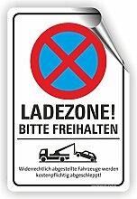 LADEZONE BITTE FREIHALTEN - Parken verboten Schild / PV-028 (40x60cm Aufkleber)