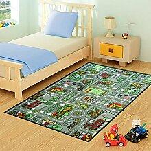 Lado Spielmatte für Kinder, Blaue Straßen, groß