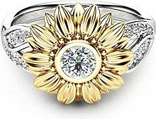 Lady Flower Ring, 18 Karat Gold Chrysantheme
