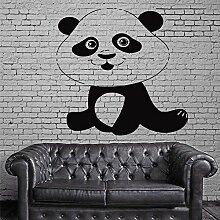 Lächelnde Panda Vinyl Wandaufkleber Schlafzimmer