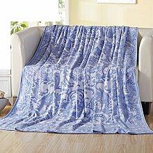 Ländlich Stil Blumen/Blumen 100% Baumwolle Sofadecken-A 140x190cm(55x75inch)