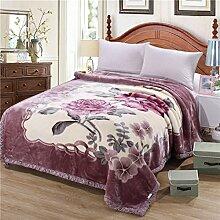 Ländlich Stil Blumen/Blumen [verdicken] Doppelschicht Polyester Sofadecken-N 180*220cm(71x87inch)