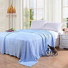 Ländlich Stil Einfarbig 100% Baumwolle Sofadecken-A 150x220cm(59x87inch)