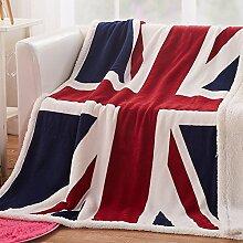 Ländlich Stil Geometrisch Einfarbig dicker Polyester Sofadecken-E 130x160cm(51x63inch)