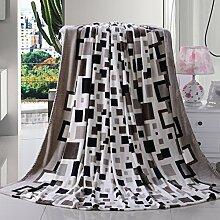 Ländlich Stil Gestreift Blumen/Blumen dicker Polyester Sofadecken-A 220*240cm(87x94inch)