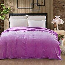 Ländlich Stil Gestreift Blumen/Blumen Einfarbig Doppelschicht Polyester Sofadecken-V 200x230cm(79x91inch)