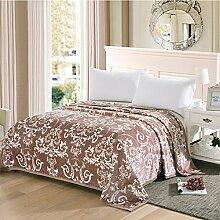 Ländlich Stil Gestreift Blumen/Blumen Polyester dicker Sofadecken-F 150*200cm(59x79inch)