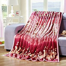 Ländlich Stil Gestreift Blumen/Blumen Polyester Sofadecken-E 120x200cm(47x79inch)120x200cm(47x79inch)