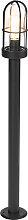 Ländliche Außenleuchte schwarz mit Glas 100 cm -