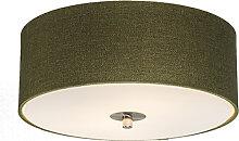 Ländliche Deckenleuchte grün 30 cm - Drum Jute
