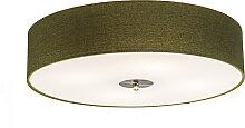 Ländliche Deckenleuchte grün 50 cm - Drum Jute