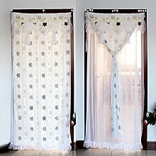 Ländliche lace Magnetvorhang,Velcro-anti-moskito-silent Magnetischer bildschirmvorhang Atmungsaktive schiebetüren Bildschirm tür netz vorhang -A 90x190cm(35x75inch)