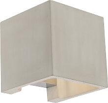 Ländliche quadratische Wandleuchte aus Beton -