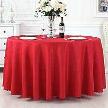 Ländliche Runde Tisch Tisch Stoff Tisch Hotel Tischdecke Restaurant Große Runde Tischdecke Kaffeetisch Bankett Hochzeit Platz Tischtuch ( farbe : # 4 , größe : 280cm )