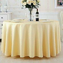 Ländliche Runde Tisch Tisch Stoff Tisch Hotel Tischdecke Restaurant Große Runde Tischdecke Kaffeetisch Bankett Hochzeit Platz Tischtuch ( farbe : # 3 , größe : 220cm )