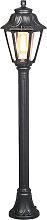 Ländliche Stehleuchte 110 cm schwarz IP44 - Anna