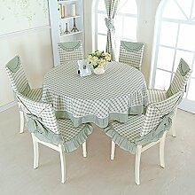 Ländliche Tischdecke/Der Stil Runden Tischdecke/Plaid Einfache Tischdecke-B
