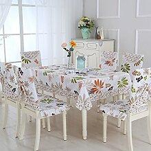 Ländliche Tischdecke,Fabric Chair Sessel Kissen Tisch,Tisch Esstisch Set Europäischen Tisch Tuch-O 150x150cm(59x59inch)
