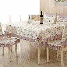 Ländliche Tischdecke,Fabric Chair Sessel Kissen Tisch,Tisch Esstisch Set Europäischen Tisch Tuch-K 160x230cm(63x91inch)