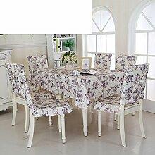 Ländliche Tischdecke,Fabric Chair Sessel Kissen Tisch,Tisch Esstisch Set Europäischen Tisch Tuch-B 130*180cm(51x71inch)