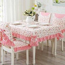 Ländliche Tischdecke,Fabric Chair Sessel Kissen Tisch,Tisch Esstisch Set Europäischen Tisch Tuch-H 160x230cm(63x91inch)