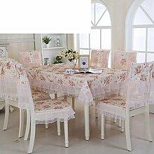 Ländliche Tischdecke,Fabric Chair Sessel Kissen Tisch,Tisch Esstisch Set Europäischen Tisch Tuch-C 110x110cm(43x43inch)