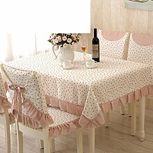 Ländliche Tischdecke,Fabric Chair Sessel Kissen Tisch,Tisch Esstisch Set Europäischen Tisch Tuch-L 130x160cm(51x63inch)