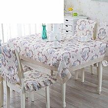 Ländliche Tischdecke,Fabric Chair Sessel Kissen Tisch,Tisch Esstisch Set Europäischen Tisch Tuch-E 110x160cm(43x63inch)