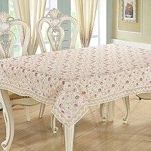 Ländliche Tischdecke,Haus Nähen Tischdecke,Runde Tischdecke Couchtisch Tischdecke Couchtisch Pad Tuch-C 80x80cm(31x31inch)
